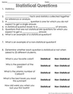Statistical Question Sort - Identifying Statistical Questions ...