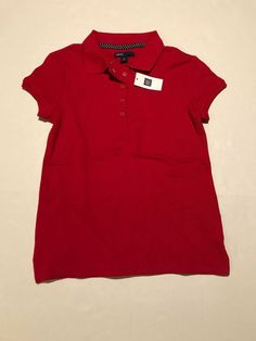 0f20648dd New With Tag Girls Red Pique Polo Shirt Gapkids Size Large 10 Red  Gap