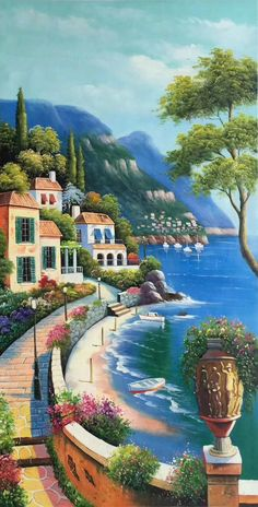 ID size 24 inch 100 hand-made oil painting decoration murals Art Home Decor Wall Decor Abstract Simple modern canvas OilPaintingSimple # Beautiful Nature Wallpaper, Beautiful Paintings, Beautiful Landscapes, Scenery Paintings, Easy Paintings, Oil Paintings, Mural Art, Wall Art, Wall Decor