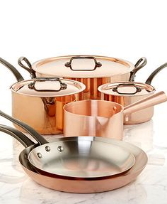 Mauviel Copper Cookware  I have visited this small town in France that is famous for its copper ware. Someday , I will On my way! A dream set of these pans !