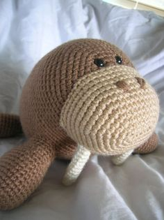 Wilbur The Walrus, crochet pattern.  Toys, amigurumi, craft