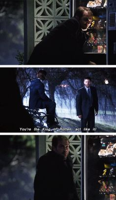 [gifset] 9x16 Blade Runners — CROWLEY I SWEAR TO GOD STOP STEALING CANDY, it's too cute omfg I will crY