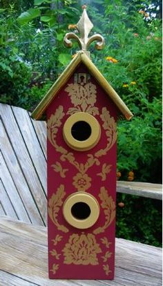 Got wine?  Gilded Gift Bottle Birdhouse~  Functionally unique presentation... good for birds too!