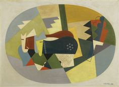 Georges Valmier (French painter, 1885-1937): Les Boeufs dans la Montagne / The Cattle on the Mountain, 1922