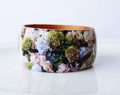 Unique Wooden Bangle Decoupage
