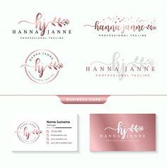 Modelo de coleções de logotipos feminino... | Premium Vector #Freepik #vector #logotipo #flor #casamento #floral Logo Studio, Logo Branding, Branding Design, Logos Vintage, Cake Logo Design, Nail Designer, Floral Logo, Floral Card, Logo Design Inspiration