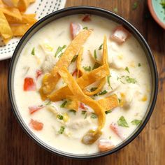 I like to make this smooth, creamy soup when company comes to visit. Its zippy flavor is full of southwestern flair. My family enjoys dipping slices of homemade bread in this chowder to soak up every … Chowder Soup, Chowder Recipes, Soup Recipes, Chicken Recipes, Dinner Recipes, Cooking Recipes, Mexican Corn Chowder Recipe, Amish Recipes, Oven Cooking