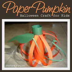 Paper Pumpkin - Halloween craft for Kids