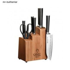 Ginsu Chikara 8-Piece Essential Stainless Steel Knife Set with Bamboo Block #Ginsu