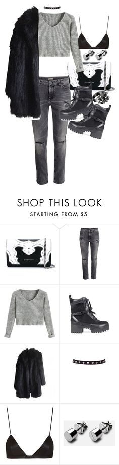 """Untitled #20411"" by florencia95 ❤ liked on Polyvore featuring Givenchy, Sonia Rykiel, NYX and Chanel"