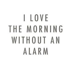 Who doesn't love a Monday with no alarm? Cause I know I do!