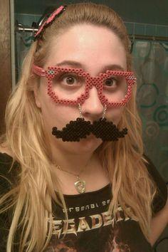 Perler Bead Mustache & Glasses.