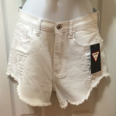 White distressed shorts Brand new never used Shorts