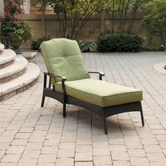 Better Homes and Gardens Providence Chaise Lounge, Green