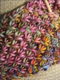 Knitted Scarf - Great color Need to learn this stitch!