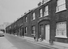 Durward Street, 1969. Formerly known as Buck's Row but the name was changed after the body of Jack the Ripper's first victim Mary Ann Nicholls was found in the street.