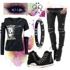 I'm not Creepy by jamkelly on Polyvore featuring polyvore fashion style Converse Trend Cool