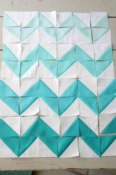 Ombre Chevron quilt top. Trendy, but pretty.