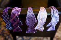 Purple Bow Ties for the Guys