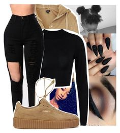 """""""Untitled #2449"""" by kayla77johnson ❤ liked on Polyvore featuring Topshop and Puma"""