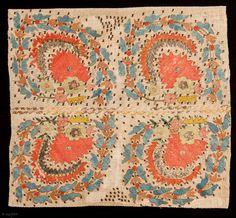 Ottoman Embroidery fragment 46 x 42 cm*****