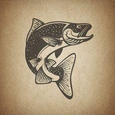 Salmon #salmon #fish #salmonfish #trout #vector #image #fishing #logo #design #graphicdesign #seafood #shutterstock #vectorimage #illustrator