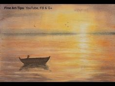 How to Paint a Waterscape Sunset in Watercolor - Sea - Ocean - Lake - Water - YouTube