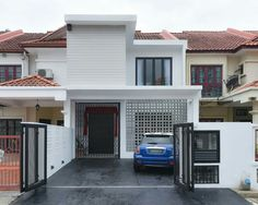 Yong Studio Sdn Bhd - Simple yet fascinating terrace house exterior ...