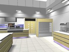 Commercial Kitchen 3D Animation, by Space Catering