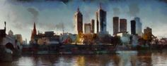 Melbourne Australia  panorama canvas print by ArtbyOlafur on Etsy, $78.00