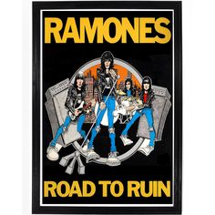 Poster from Ramones' album Road to Ruin. All of our prints are beautifully…