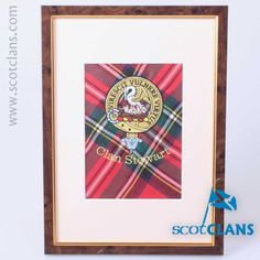 Embroidered Stewart Clan Crest on Real Tartan. Free Worldwide Shipping Available