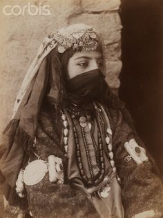 Iran | Portrait of Female Member of Shah's Family.  Late 19th to early 20th century | © Photographer Unknown/Brooklyn Museum/Corbis