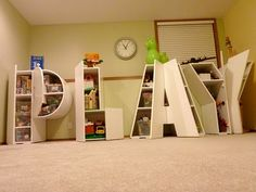Play letters toy storage... DIY... looks awesome but also looks like a LOT of work!