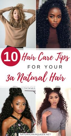 10 Hair Care Tips for Your Natural Hair Natural Hair Types, Natural Hair Care Tips, Natural Hair Growth, Natural Curls, Natural Beauty, 3a Curly Hair, Curly Hair Styles, Hair Topic, Hair Porosity