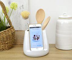 Oliver Utensil Pot & iPad Stand White