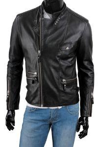 Ramoneska Skórzana Męska DORJAN CM LEO950_4 Motorcycle Jacket, Leather Jacket, Model, Jackets, Fashion, Fotografia, Studded Leather Jacket, Down Jackets, Moda