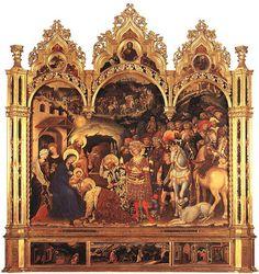 GENTILE da FABRIANO - Adoration des rois mages -  (1423) Florence, Musée des Offices