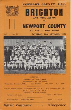Newport County, British Football, Brighton & Hove Albion, Football Program, Twitter, Uk Football, Brighton & Hove Albion F.c.