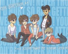 One Direction Drawing liam payne harry styles louis tomlinson zayn malik niall horan