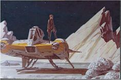 Ralph McQuarrie painting from the Battlestar Galactica archives