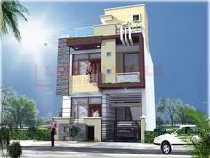 exotica Building Elevation, House Elevation, Modern Houses, Modern House Design, House 2, House Front, House Architecture Styles, Front Elevation Designs, Motivational Board