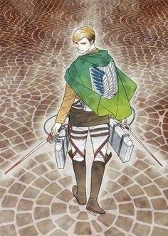 エルヴィン・スミス by 杉田圭    | 【イラスト公開!】『ダ・ヴィンチ』10月号 で夢のコラボ! 豪華作家11名が『進撃の巨人』キャラクターを描く |  http://ddnavi.com/news/206485/2/