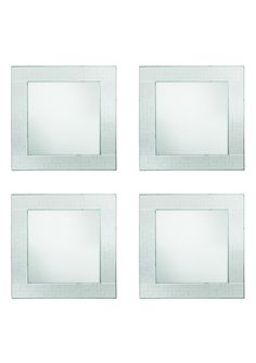 JAY COMPANIES Set of 4 Mosaic Square Mirror Charger Plates