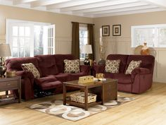 Decorating with Burgundy Furniture molly burgundy living room