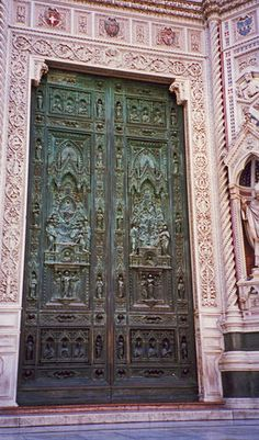 Cathedral Door Florence Italy