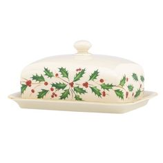 lenox Holiday Covered Butter Dishes