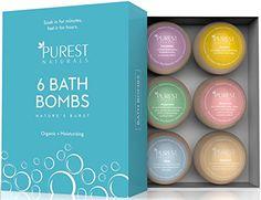 Natural Lavender Bath Bomb Large 4.5 oz Handmade Spa Fizzies