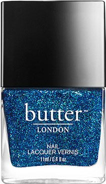 butter LONDON Inky Six Nail Lacquer | Medium coverage, deep blue glitter. Real musicians do it on a six-string.