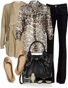 13cf4eb50 23 Best How to Wear a Leopard Print Blouse images